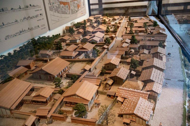 ジオラマ模型で再現した街並み