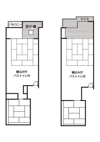 Japanese-style Room 12.5 Tatami + 8 Mats