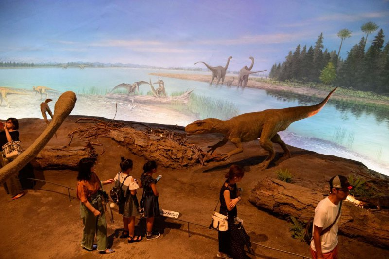 Revival of Jurassic with a huge diorama