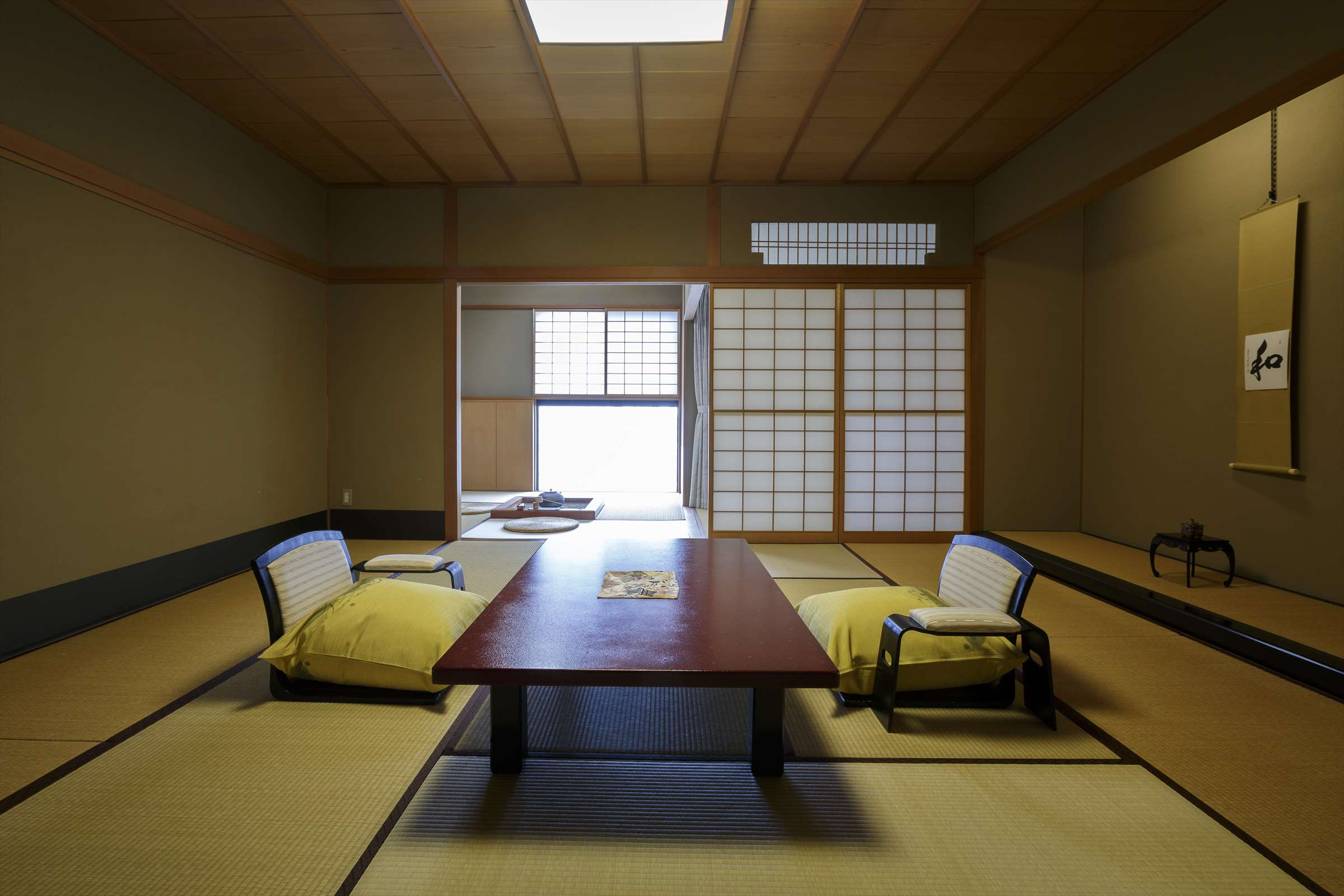 Japanese Style Room with a Hearth
