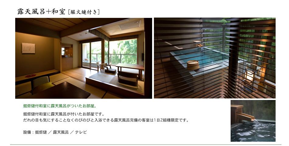 露天風呂+和室(堀火燵付き)
